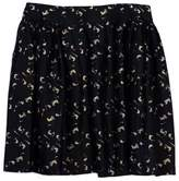Milly Black & Tan Marbled Skater Skirt