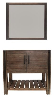 "CraftMark Brownsville 36"" Single Bathroom Vanity Set with Mirror"
