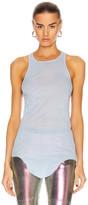 Rick Owens Basic Rib Tank Top in Powder Blue | FWRD