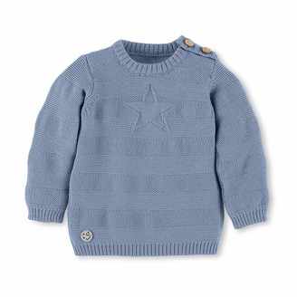 Sterntaler Knit Sweater with Star and Buttons Age: 9-12 Months Size: 12m Light Blue