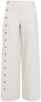 Each X Other Button-detailed Linen Wide-leg Pants