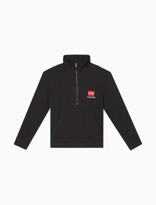 Calvin Klein Bold 1981 Half Zip Sweatshirt