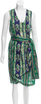Dries Van Noten Silk Ikat Print Dress
