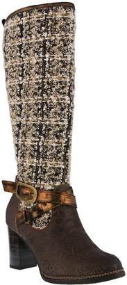 Spring Step L'Artiste by Leather and Textile Boots - Tweed