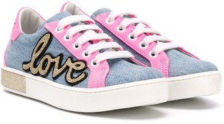 Am66 TEEN Love colour-block sneakers