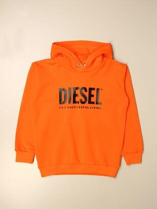 Diesel Hooded Sweatshirt In Cotton