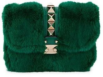 Valentino Studded Mink Fur Crossbody Bag