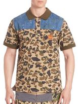 PRPS Camo Paint Splattered Denim Polo