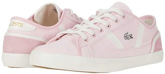 Lacoste Sideline 120 1 (Light Pink/Off-White) Women's Shoes