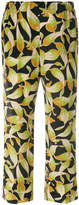 No.21 leaf print cropped trousers