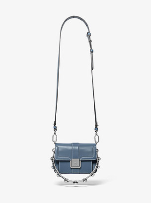 Michael Kors Crawford Mini Leather Crossbody Bag - Storm