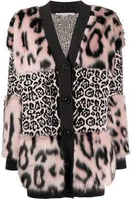 Stella McCartney Leopard-Print Cardi-Coat