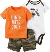 Carter's 3-pc. Bodysuit and Shorts Set - Baby Boys newborn-24m