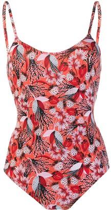 Emmanuela Swimwear Amy floral print swimsuit