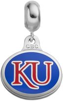 Fiora Sterling Silver Kansas Jayhawks Logo Charm