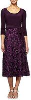 Alex Evenings Rosette Tea Length Dress
