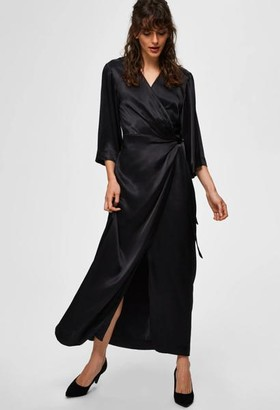 Selected Dakota 3 4 Ankle Wrap Dress - 10