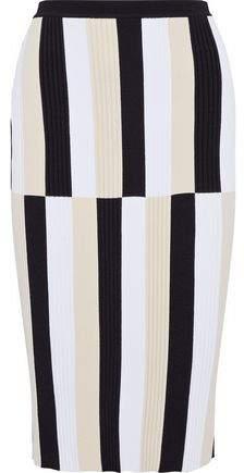 Derek Lam Color-Block Knitted Skirt