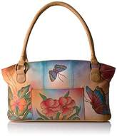 Anuschka Anna Handpainted Wide Tote Floral Butterfly