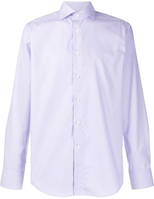 Canali Woven Long-Sleeved Shirt