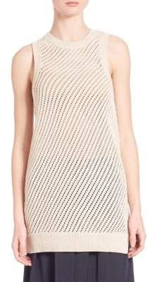 Vince Mesh Stitched Tank Top