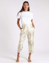 Thumbnail for your product : La Prestic Ouiston Mix L.A. Sunset Acide Lucky Printed Crop Pant