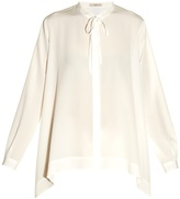 Etro Tie-neck step-hem silk blouse