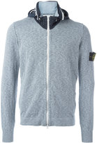 Stone Island logo patch hoodie - men - Cotton/Polyamide/Polyurethane Resin - XXXL