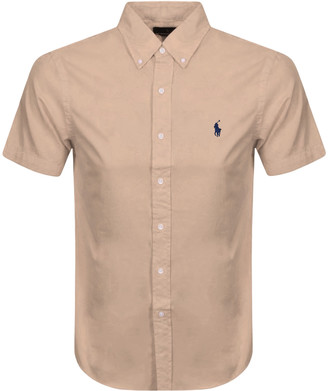 Ralph Lauren Slim Fit Short Sleeve Shirt Brown