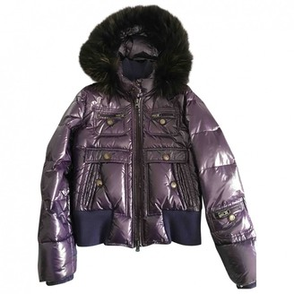 Fay Purple Leather Coat for Women