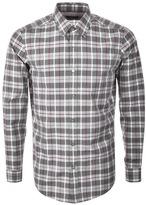 HUGO BOSS Black Lukas 34 Check Shirt Grey
