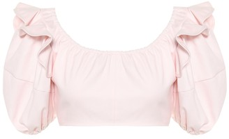 Ellery Hilaria cotton crop top