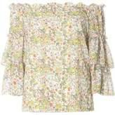 Dorothy Perkins Womens Yellow Ditsy Floral Bardot Top- Fl Multi