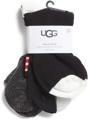 3pk Ash Ankle Sock Gift Set