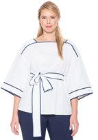 ELOQUII Plus Size Tie Waist Kimono Top