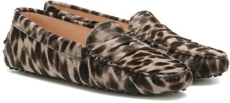 Tod's Gommino calf hair loafers
