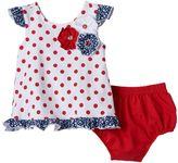 Nannette Baby Girl Polka-Dot Top & Bloomer Set