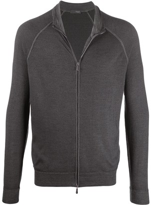 Drumohr Zip-Up Merino Cardigan