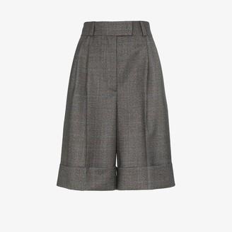 Miu Miu Houndstooth Wool Shorts