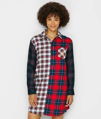 Lauren Ralph Lauren Mixed Plaid Brushed Twill Sleep Shirt
