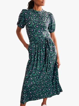 Boden Puff Sleeve Floral Maxi Dress