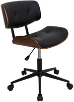 Lumisource Lombardi Height Adjustable Office Mid-Century Modern Counter Chair With Swivel
