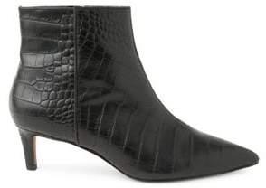 Kensie Damiana Crocodile Leather Booties