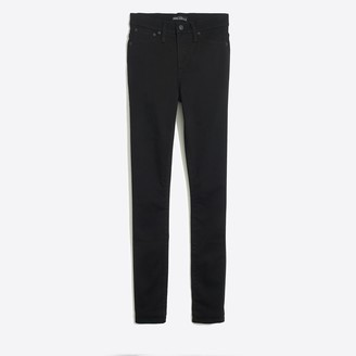 "J.Crew Petite 10"" highest-rise skinny jean in black wash"