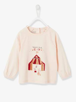 Vertbaudet Top for Baby Girls, Welcome to the Circus