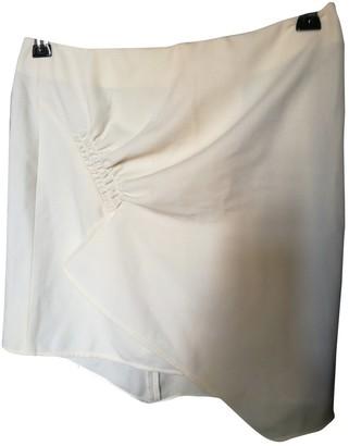 Emporio Armani White Wool Skirt for Women Vintage