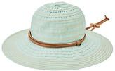 San Diego Hat Company Women's Sunhats LT. - Light Blue Chin-Cord Ribbon Floppy Hat