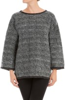 Max Studio Glen Plaid Knitted Needlepunched Pullover