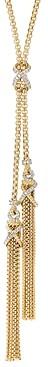 David Yurman Helena Tassel Necklace in 18K Yellow Gold with Diamonds, 34