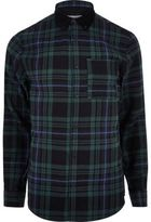 River Island MensGreen check flannel shirt